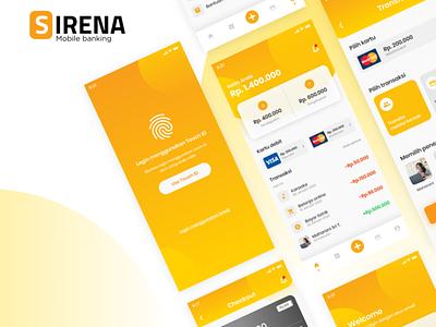 Mobile Exploration - Sirena Mobile Bank. App graphic design branding typography vector icon ux ui illustration design app