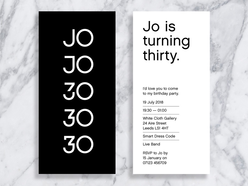 30th birthday party invitation by dean harding dribbble