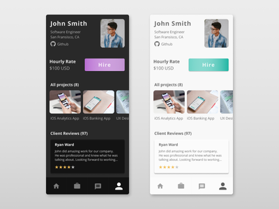 User Profile - Daily UI 006 portfolio card portfolio design mobile profile mobile profile card user