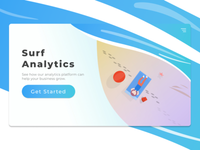 Surf Analytics - Landing Page