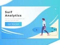Surf Analytics 2 - Landing Page