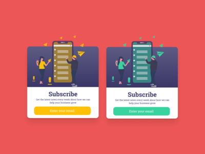 Subscribe Form - Daily UI 026