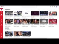 Youtube Redesign Complete daily flat modern website design ui  ux light theme dark theme google youtube animation redesign