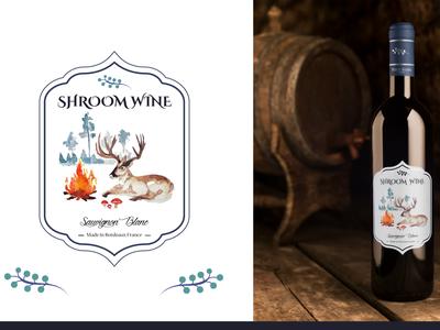 Shroom Wine Bottle Sticker