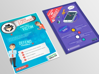 Security Elevate Cyber Security Posters