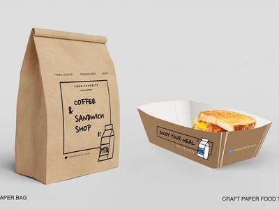 Paper bag & food tray