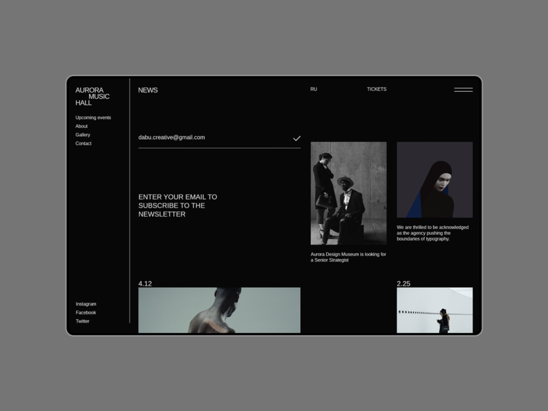 Aurora Events Design Kit. News uidesign ui  ux ui news news design typography brutalist flat ui pack ui component ui kit ui elements uiux minimalism adobe xd interface ui design themplates promo page ui kits