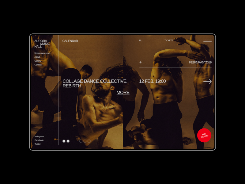 Aurora Events Design Kit. Calendar adobe xd uiux flat ui design interface ui minimalism typography brutalist promo page themplates ui elements ui components ui set ui pack ui kit ui kits
