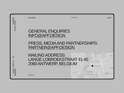 Aurora Events Design Kit. Contacts