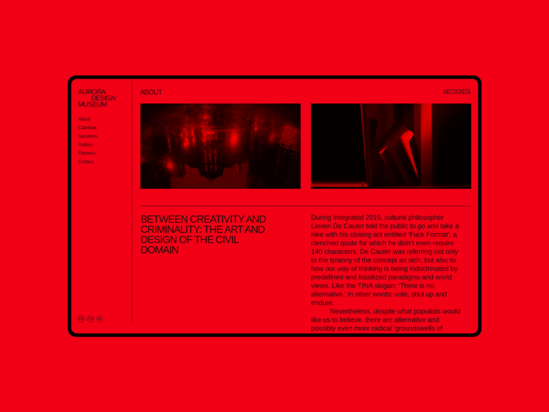 Aurora Events Design Kit. About monochrome one color red information info about page about me about us aboutus about interface brutalist promo page ui design ui component ui pack themplates ui kits ui kit ui elements