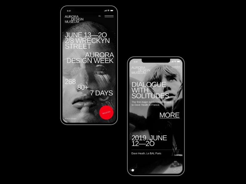 Aurora Mobile Kit promo page minimalism interface brutalist clean simple elegant themes templates ui components ui pack ui kits ui kit ui elements app mobile app mobile