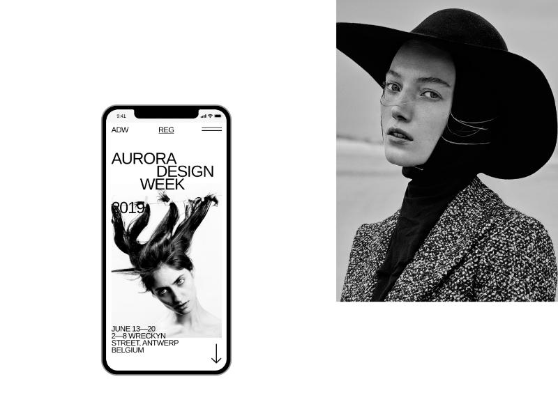 Aurora Mobile Kit minimalism interface brutalist promo page mobile app app mobile modern light wight themes templates ui components ui kit ui elements ui pack ui kits