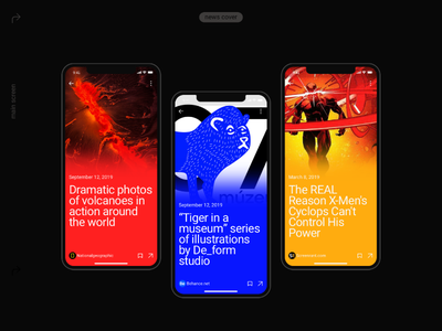 Pulse UI Kit. News Aggregator App brutalist mobile design mobile app mobile ui mobile app design app newsfeed news ui components ui design interface minimalism ui kits ui component themplates ui pack ui elements ui kit
