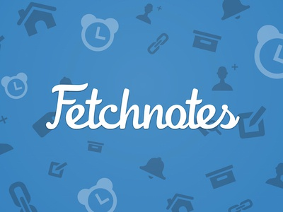 Fetchnotes on the App Store branding iconography