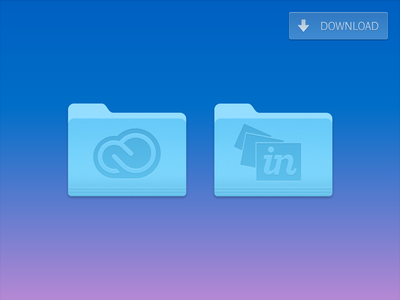 InVision & Creative Cloud Replacement Yosemite Folder Icons icons mac mac icons