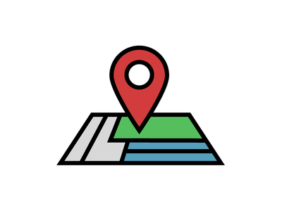 Map illustration icons iconography