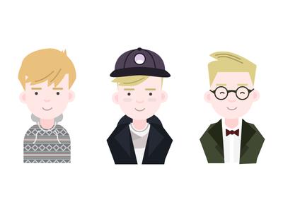Matt, Giles, Horak illustration illustrations character characters profile