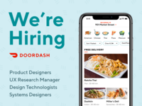 Join DoorDash Design: We're Hiring