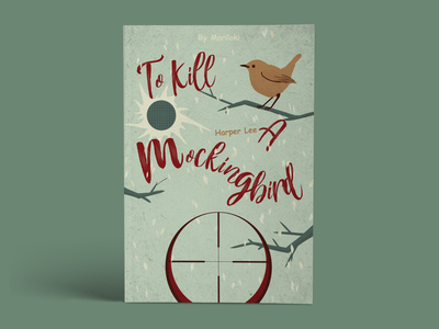 To Kill a Mocking Bird digital retro design book cover illustration