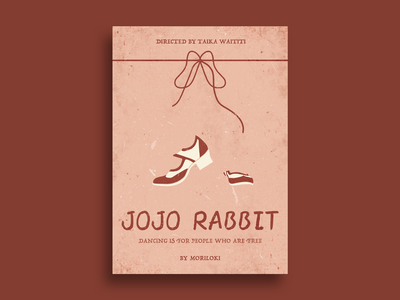 JOJO RABBIT film poster design retro illustration