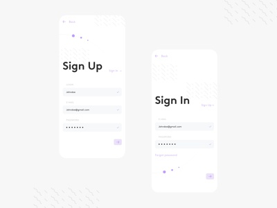 Daily UI #001 - Sign Up / Sign In ux ui uiux sketch signup sign in dailyuichallenge challenge dailyui 001