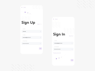 Daily UI #001 - Sign Up / Sign In