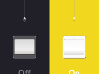 Daily UI #015 - On/Off switch illustration onoff onoffswitch switch off design dailyuichallenge dailyui ux ui sketch challenge