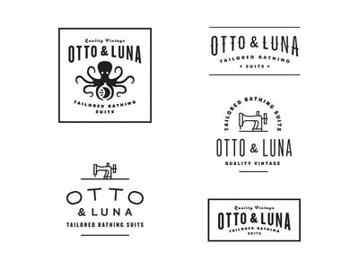 Otto   Luna logo type octopus otto luna mood font vintage bathing suit tailored