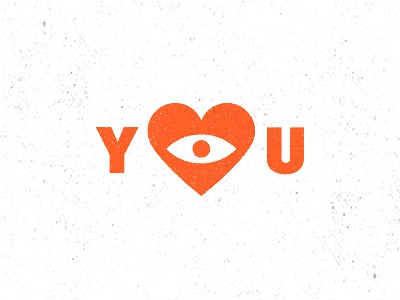 I Love You type eye love heart i love you typography illustration