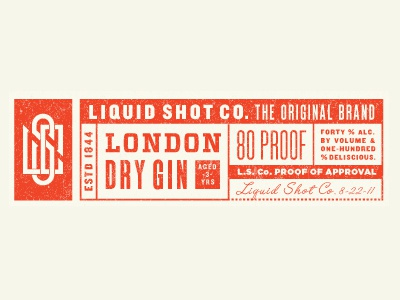 Liquid Shot Co ryan feerer liquor typography type