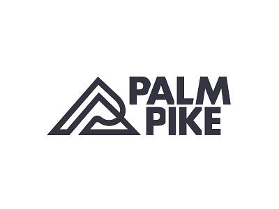 Palm Pike hiking outdoors slope pike palm p mountain logotype type logo