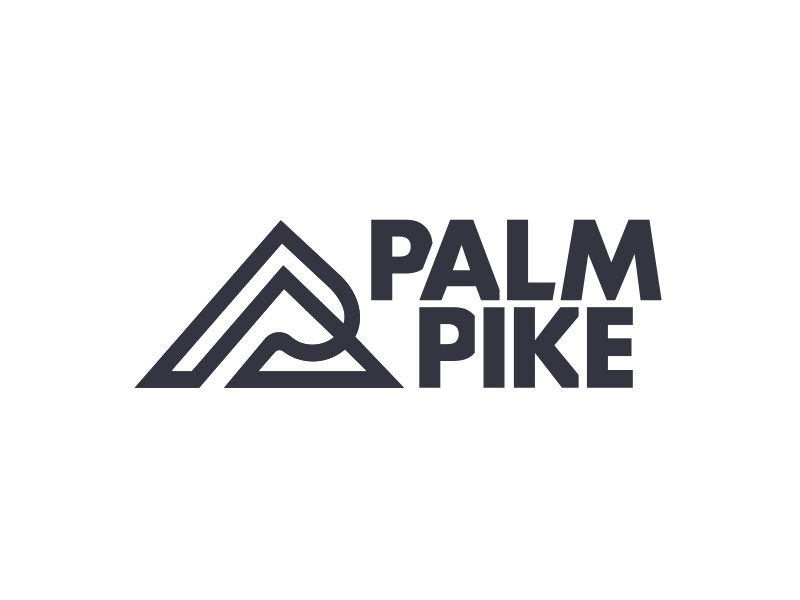 Palm Pike hiking outdoors slope pike palm p mountain logotype type logo