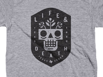 Texas 4ever typography type illustration texas pride skull flower death life badge texas