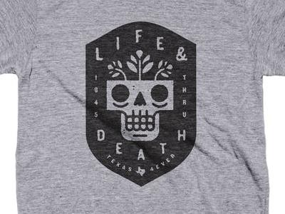 Texas 4ever typography type illustration texas pride skull flower death life badge texas