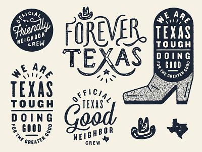 Academy Shirt Stuff texture script typography lettering type hat cowboy hat boot texas academy