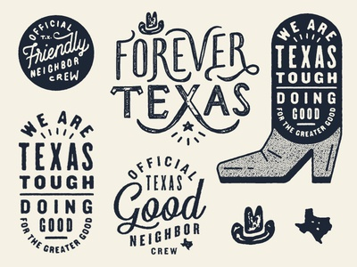 Academy Shirt Stuff texture script typography lettering type hat cowboy hat boot texas academy