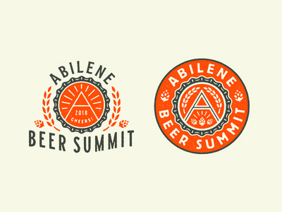 Abilene Beer Summit seal texas shine mountain summit hops barley grain a beer cap cap beer