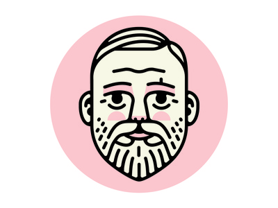 Back To School illustration beard heading face icon portrait
