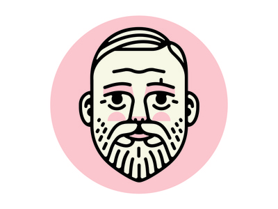 Back To School illustration beard heading face icon portrait