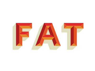 FAT type custom bevel drop shadow