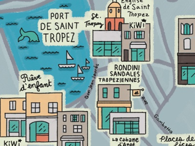 Map for kids in french