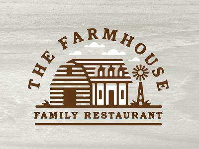 The Farmhouse branding design logo feerer typography illustration home southern cabin type restaurant country clouds arc serif windmill farmhouse house farm