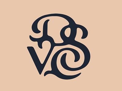 DSVC Talk letters talk swash monogram type lettering