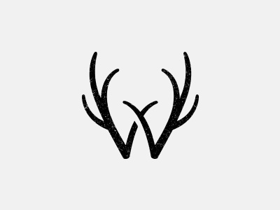 W w type antler animal letter