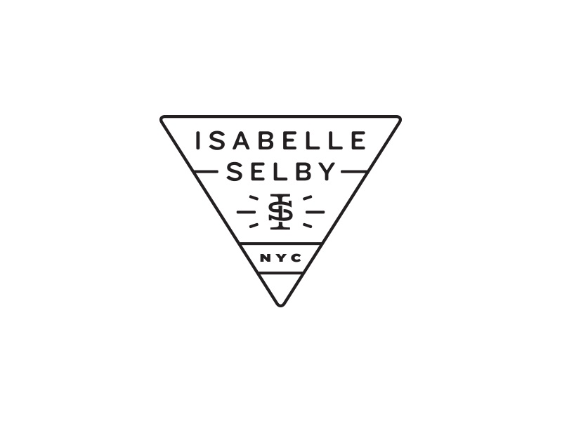 Isabelle Selby logo monogram triangle photography type typography