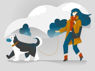 Covid-2019 dog walking