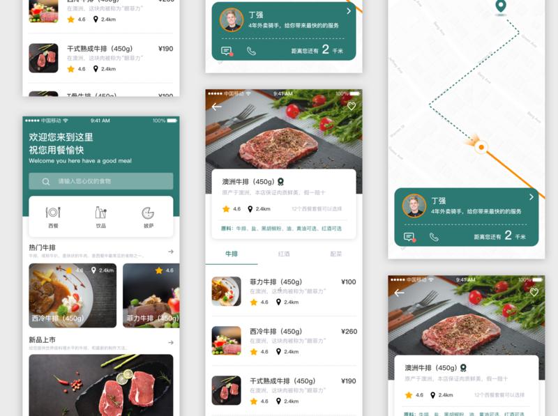 food ui app illustration
