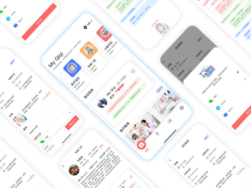 Medical treatment illustration ui app