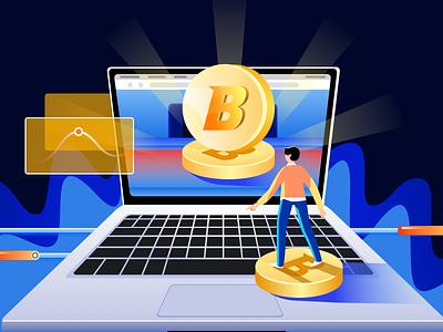 Blockchain design illustration
