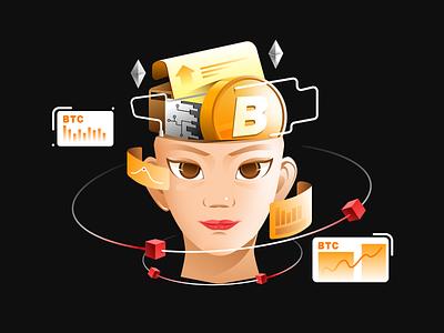 Blockchain-illustration design illustration